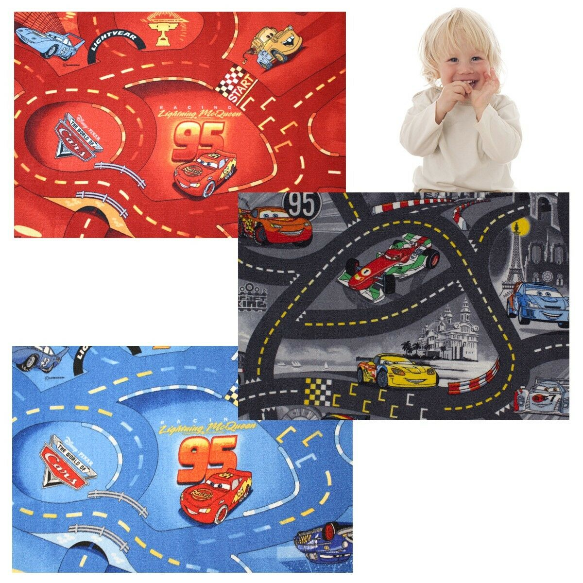 kinderteppich disney cars teppich stra en spielteppich eur 19 50 picclick fr. Black Bedroom Furniture Sets. Home Design Ideas