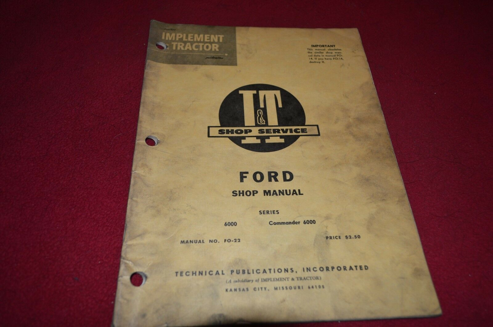 Ford 6000 Commander 6000 Tractor I&T Shop Manual BVPA 1 of 1Only 1  available ...