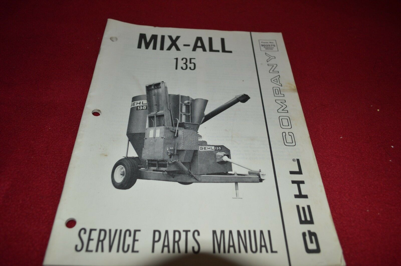 Gehl 135 Mix All Grinder Mixer Dealer's Parts Book Manual BVPA 1 of 1Only 1  available ...