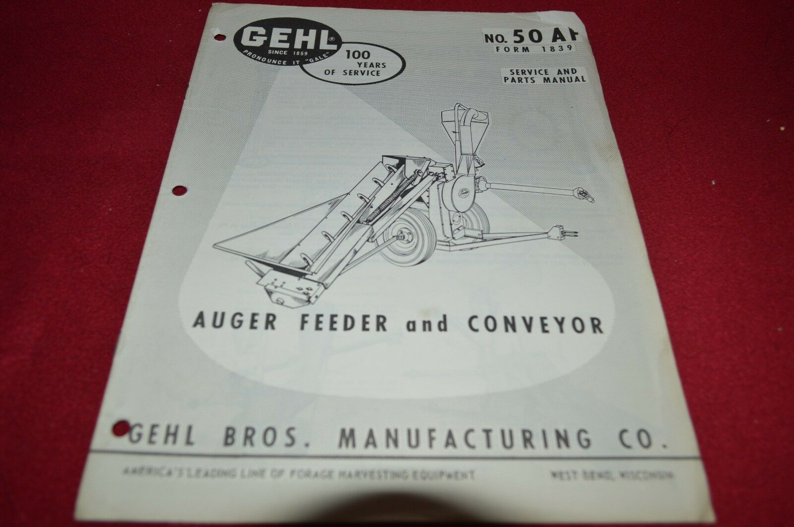Gehl 50 Hammer Mill Dealer's Parts Book Manual BVPA 1 of 1Only 1 available  ...