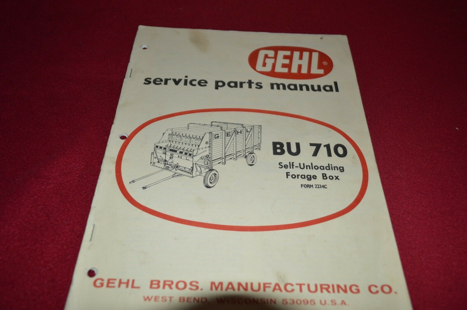 Gehl BU 710 Forage Box Wagon Dealer's Parts Book Manual BVPA 1 of 1Only 1  available ...