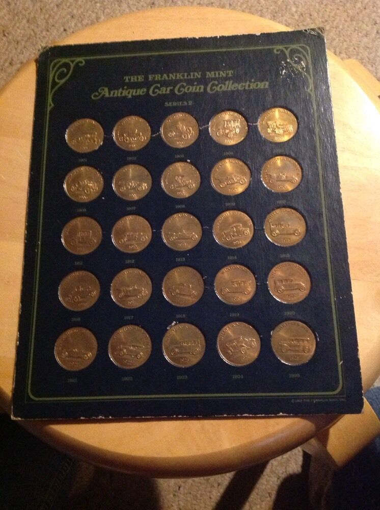 The Franklin Antique Car Coin Collection Series 2 1901 1925 Holder Worn 1 Of 10only Available
