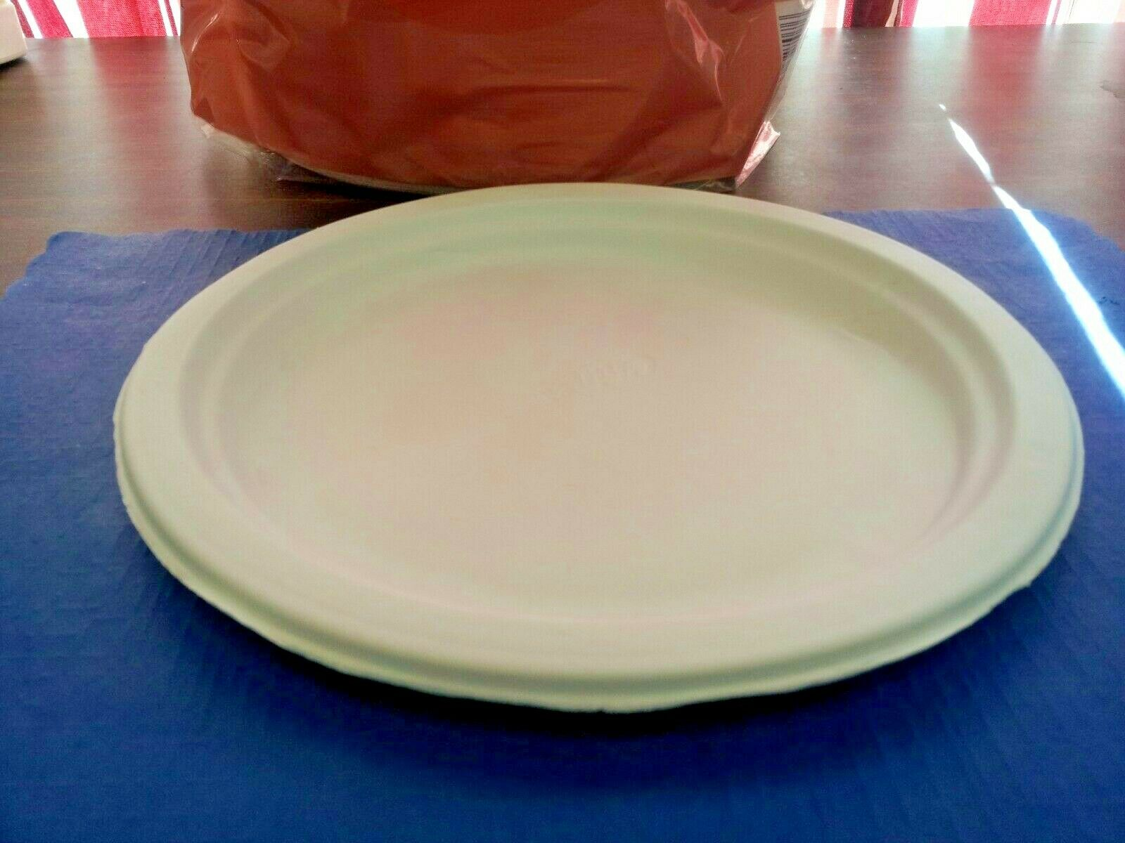 225 Plates Paper 8 3 4 White Chinet Heavy Duty Microwavable