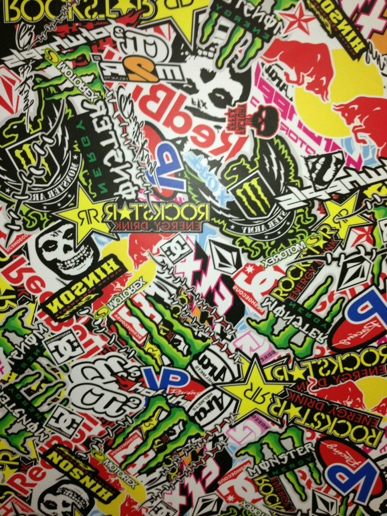 Stickers bombers autocollant 20 x 10cm kit deco moto cross for Auto collant mural