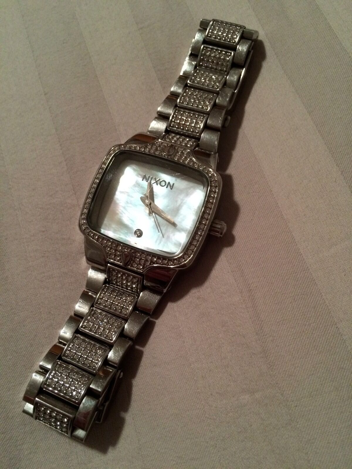 nixon stainless steel silver with