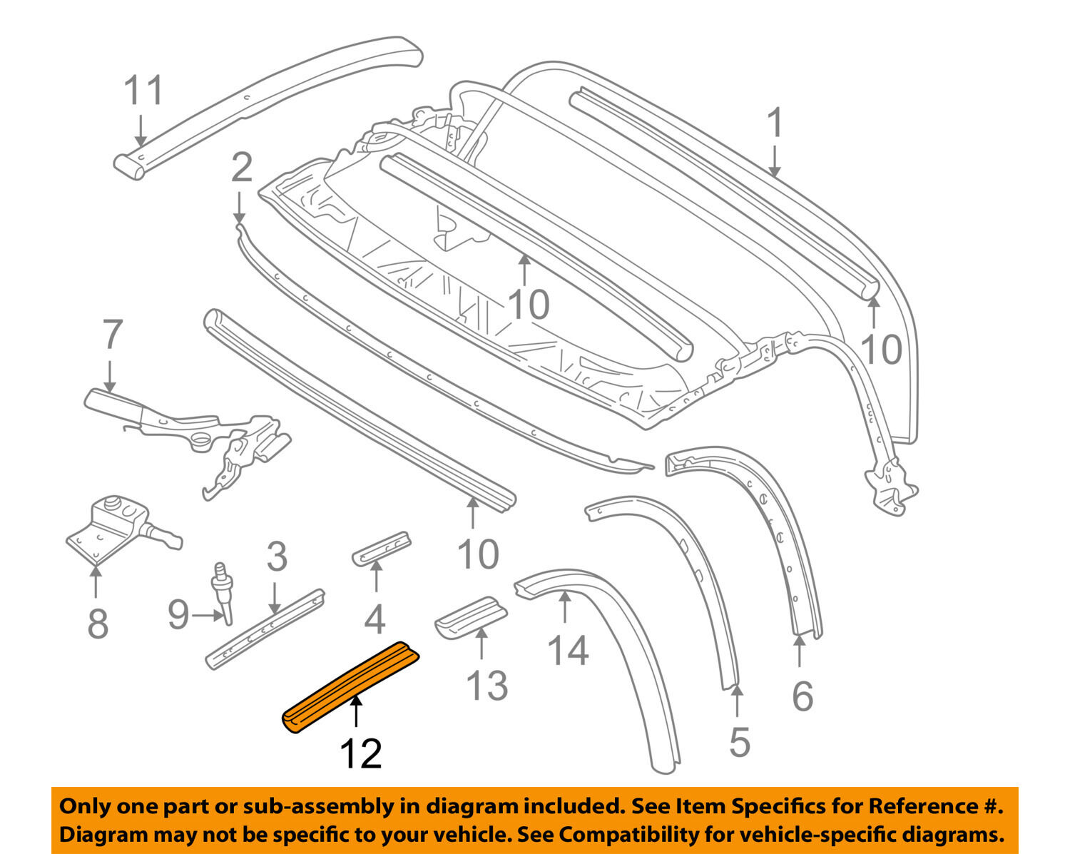 Bmw Oem 96 02 Z3 Convertible Soft Top Window Guide Left 54318397657 2 8 Engine Diagram 1 Of 2only Available