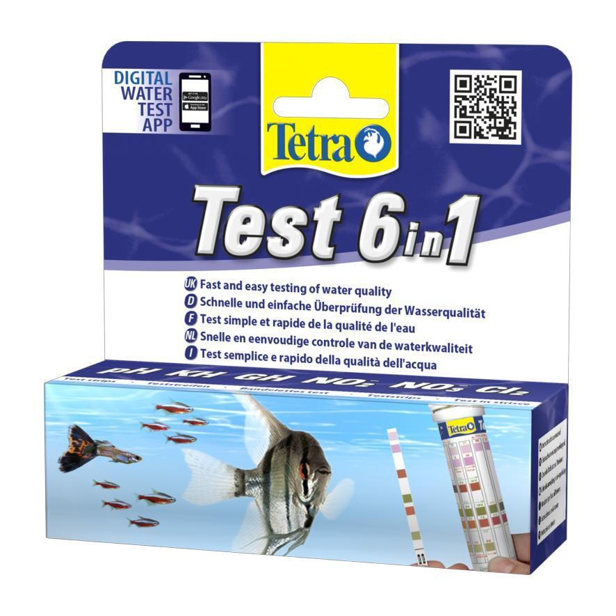 Tetra Water Test Strips 6 in 1 pH Nitrite Nitrate Carbonate GH Chrlorine
