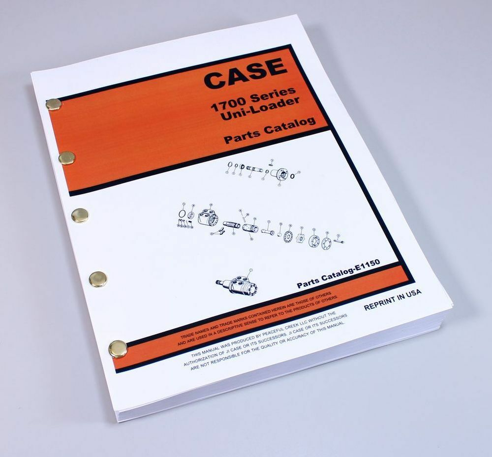 Case 1700 1737 1740 1737S Uni-Loader Parts Manual Catalog Skid Steer  Assembly 1 of 8FREE Shipping ...