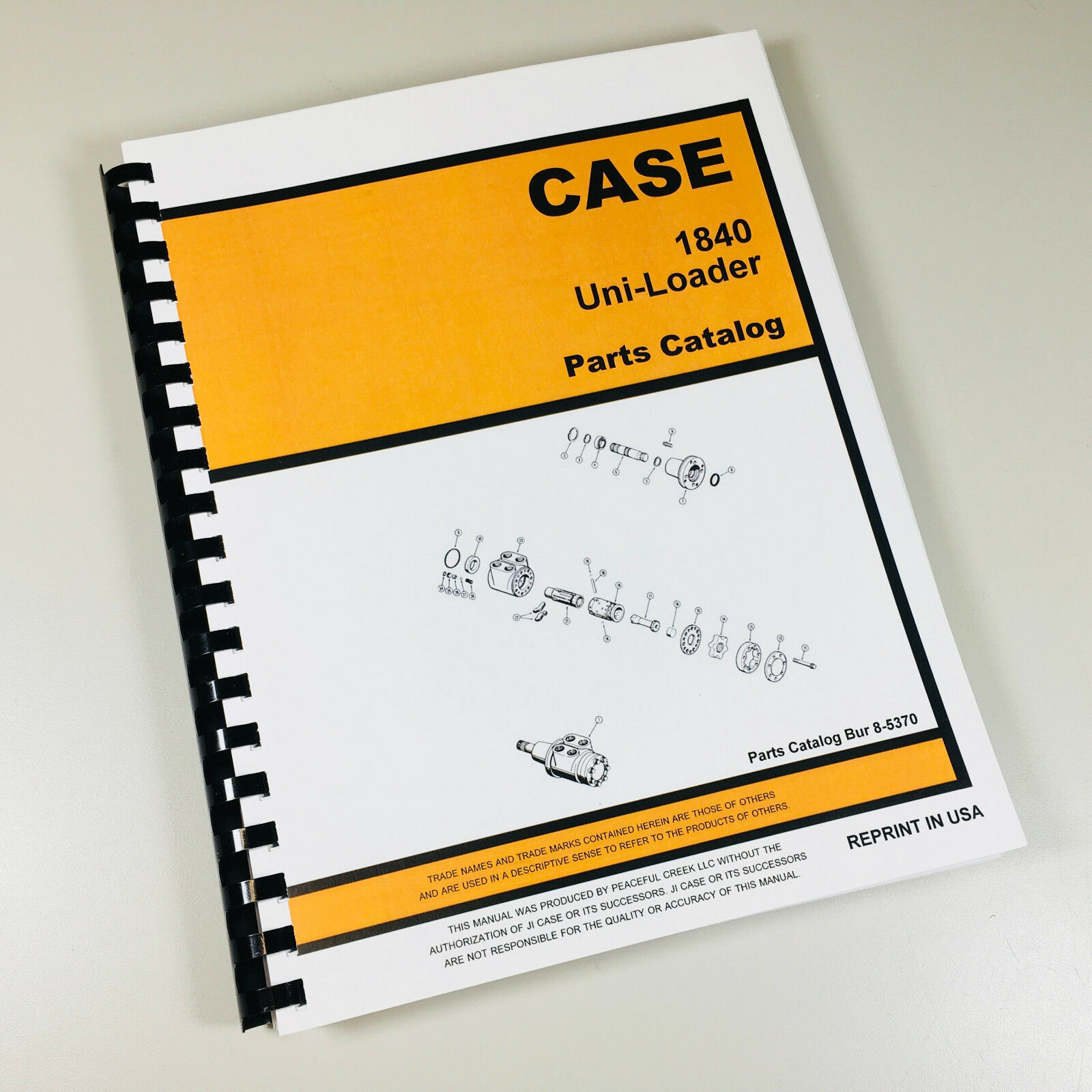 Case 1840 Uni Loader Parts Manual Catalog Skid Steer Assembly Exploded  Views 1 of 8FREE Shipping ...
