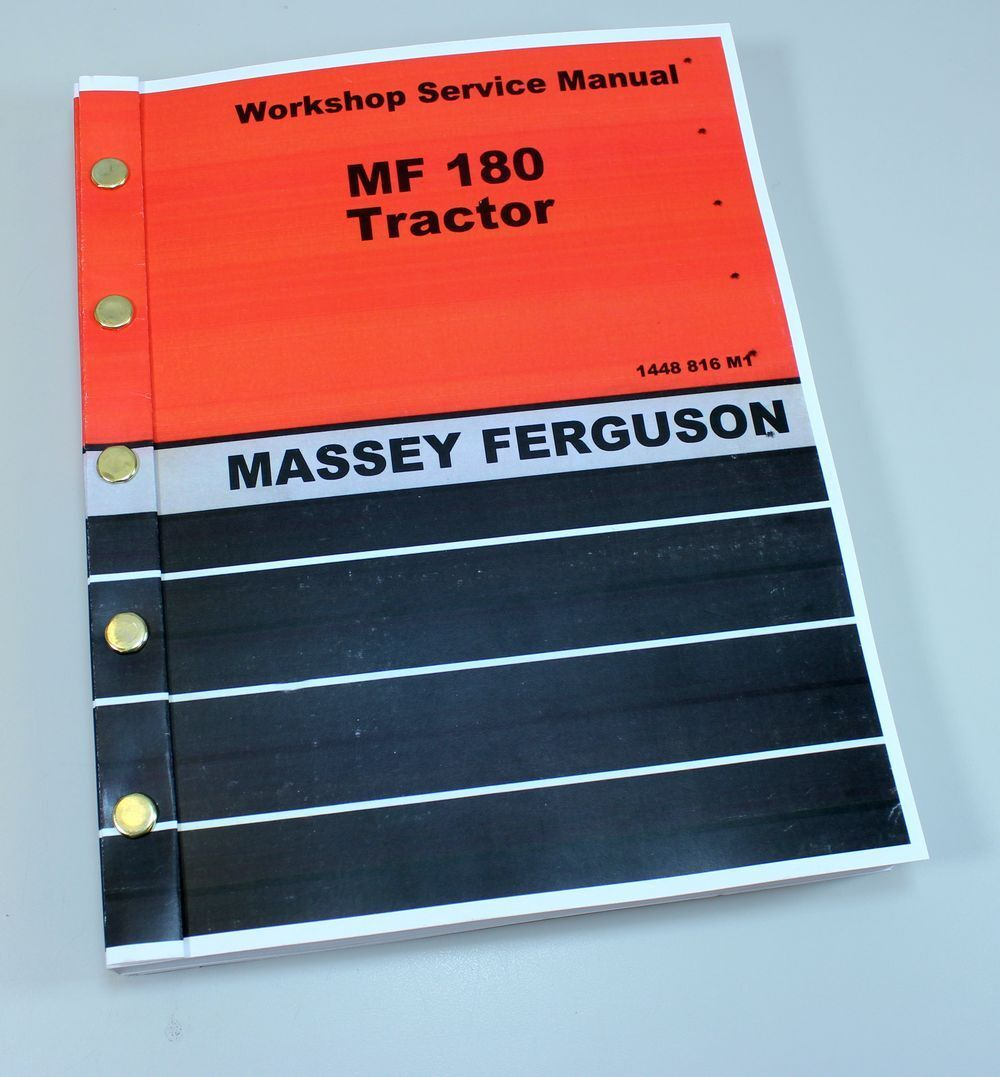 1 of 10FREE Shipping Massey Ferguson 180 Tractor Service Repair Shop Manual  Technical Workshop Mf180