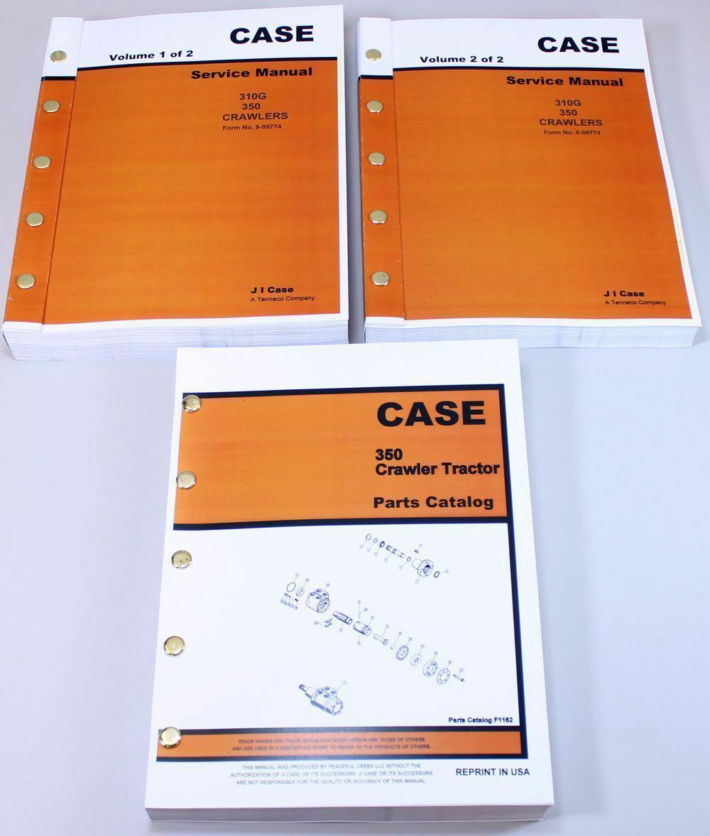Case 350 Crawler Tractor Dozer Service Repair Manual Parts Catalog Shop  Books 1 of 11FREE Shipping ...