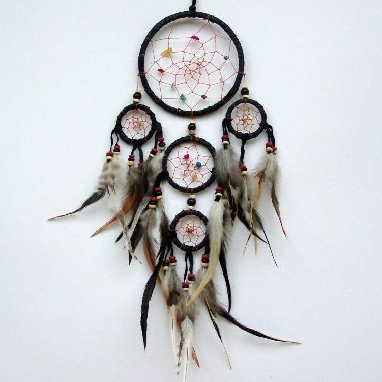 DREAM CATCHER HANDMADE Dreamcatcher Real Feathers Wall Or Car Gorgeous Is Dream Catcher Real