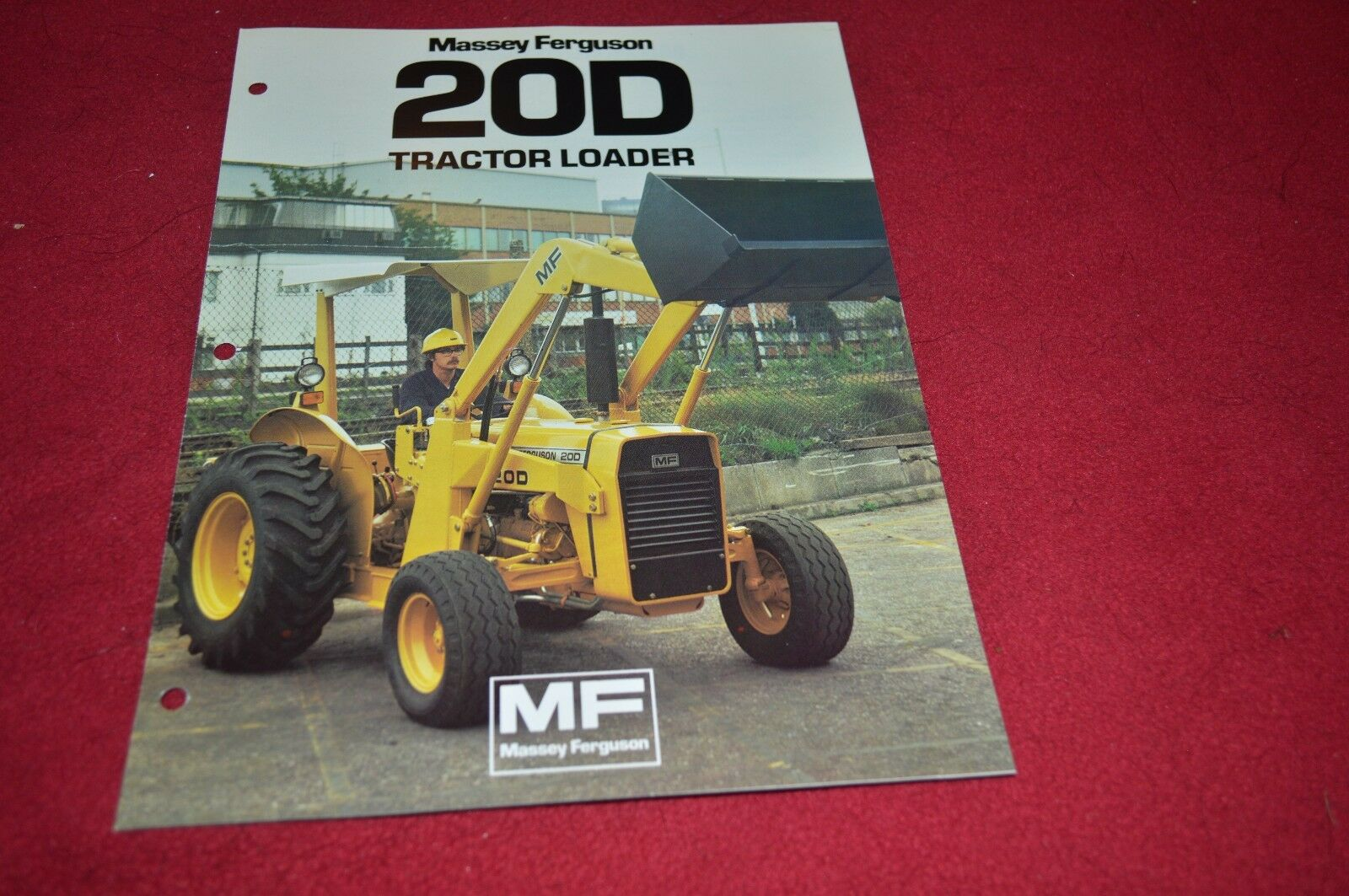 Massey Ferguson 20D Industrial Tractor Loader Dealer's Brochure DCPA2 1 of  1Only 1 available ...