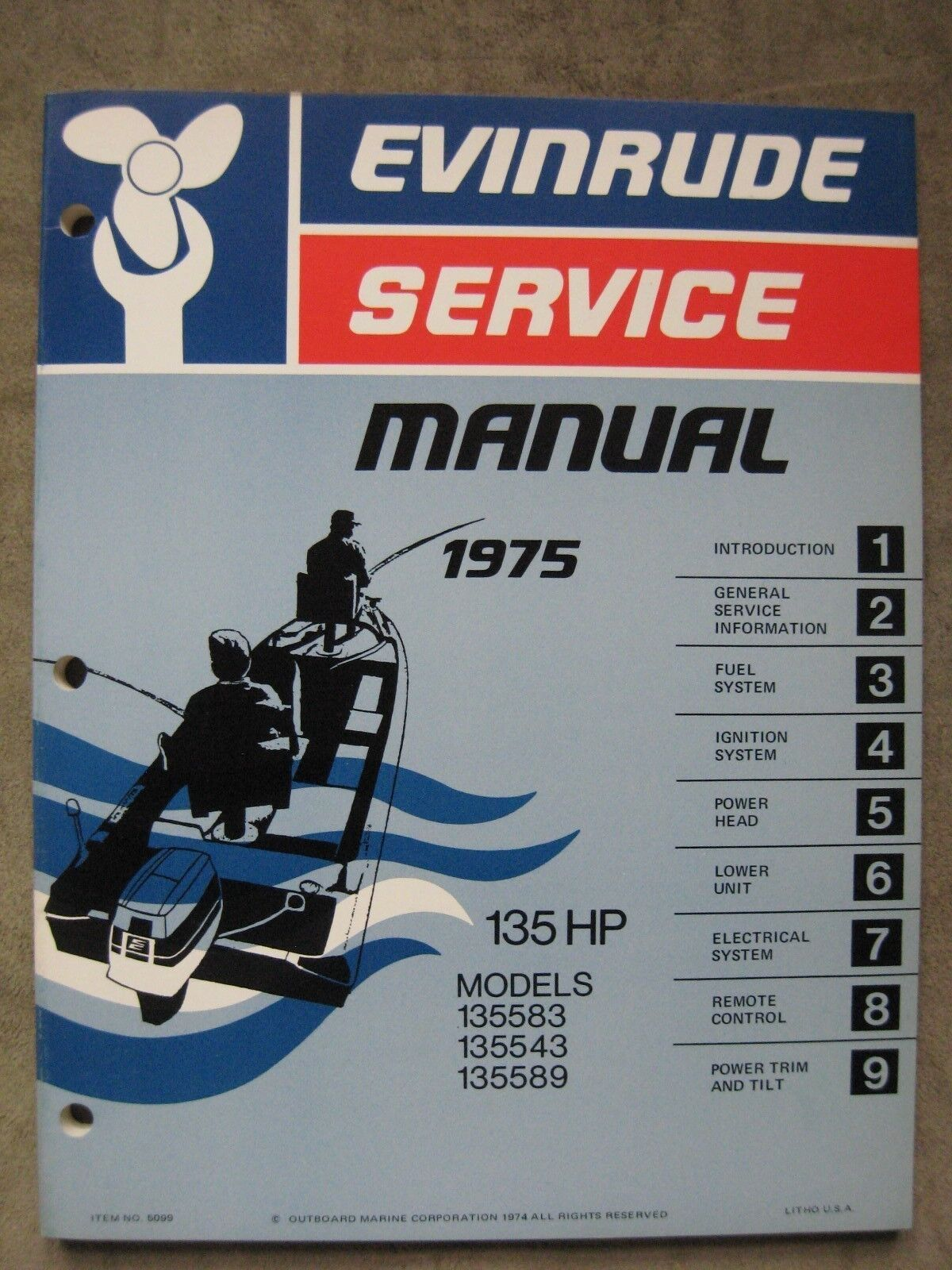 1976 Evinrude 135 HP Outboard Motor Service Repair Manual 135583 135543  135589 1 of 1Only 1 available ...
