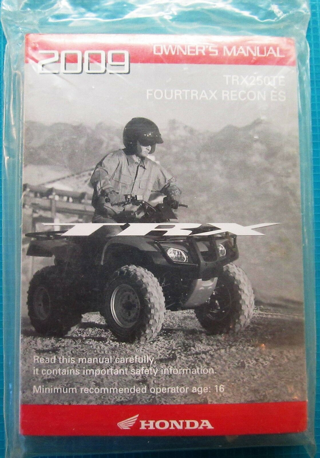 TRX250TE Fourtrax Recon ES Owner's Manual 1 of 2Only 1 available ...