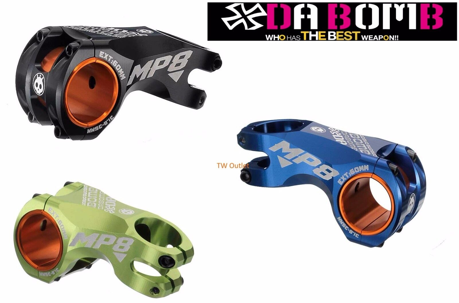 New In Box Da Bomb Mp8 Mtb Am Fr 1 8 60 80mm Stembar 35mm 318 Stem Uno Of 1free Shipping