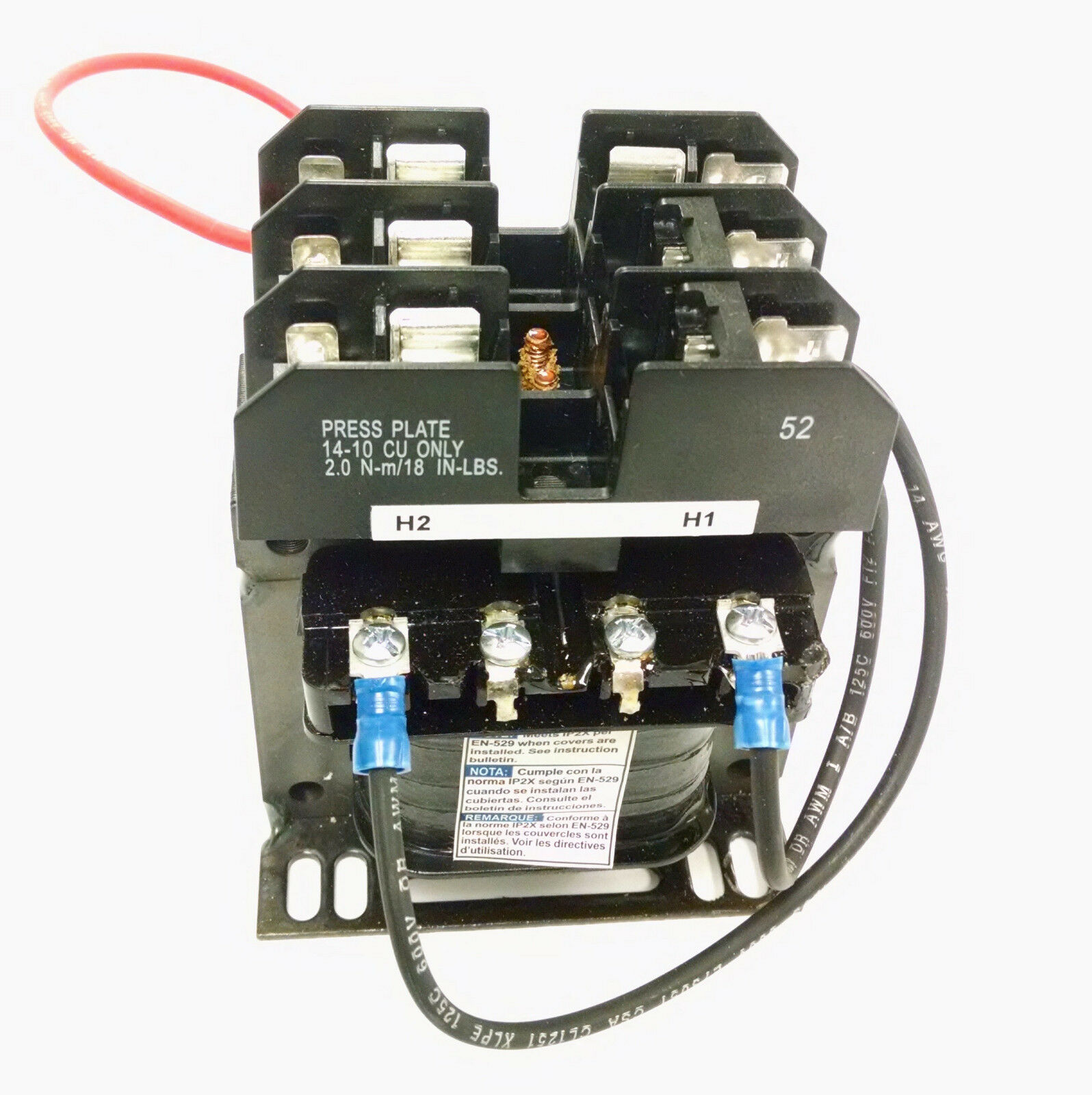 Square D 9070tf100d3 Control Transformer 01kva W Fuse Holder In 220 Screw Box 1 Of 5