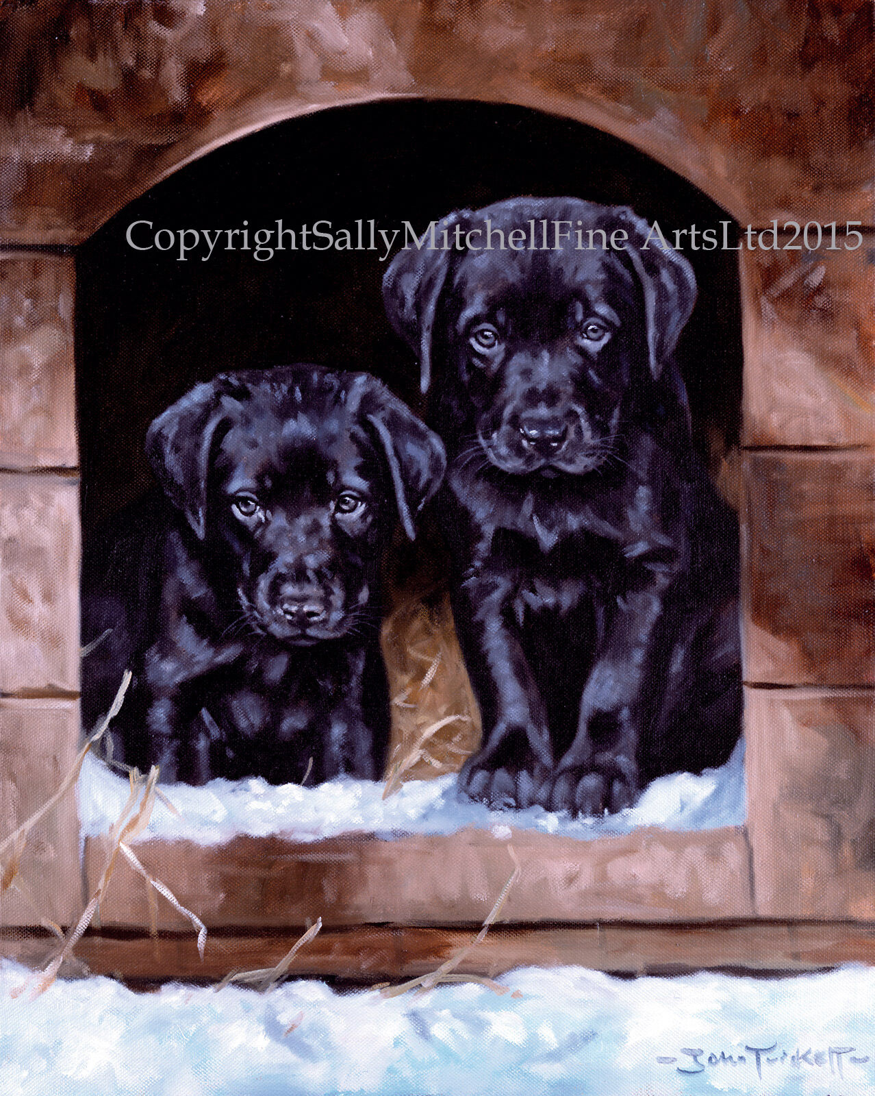 LABRADOR PUPPIES DOG, Christmas cards pack of 10 by John Trickett ...