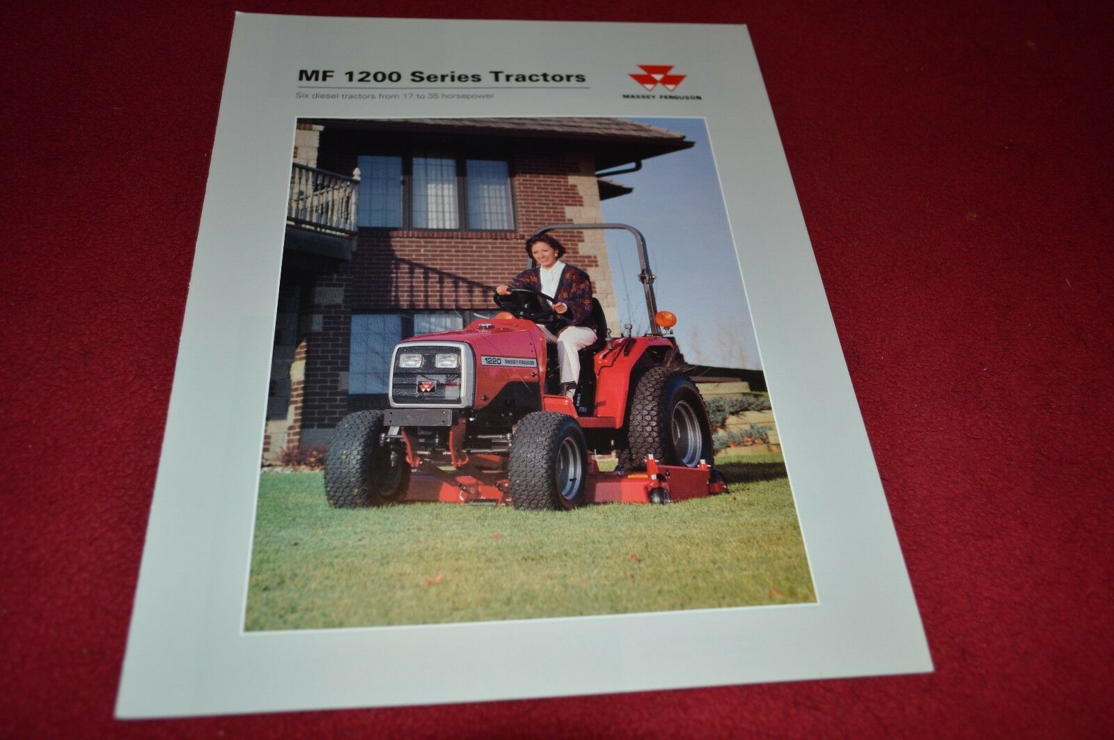 Massey Ferguson 1220 1230 1240 1250 1260 Tractor Dealer's Brochure YABE5 1  of 1Only 1 available ...