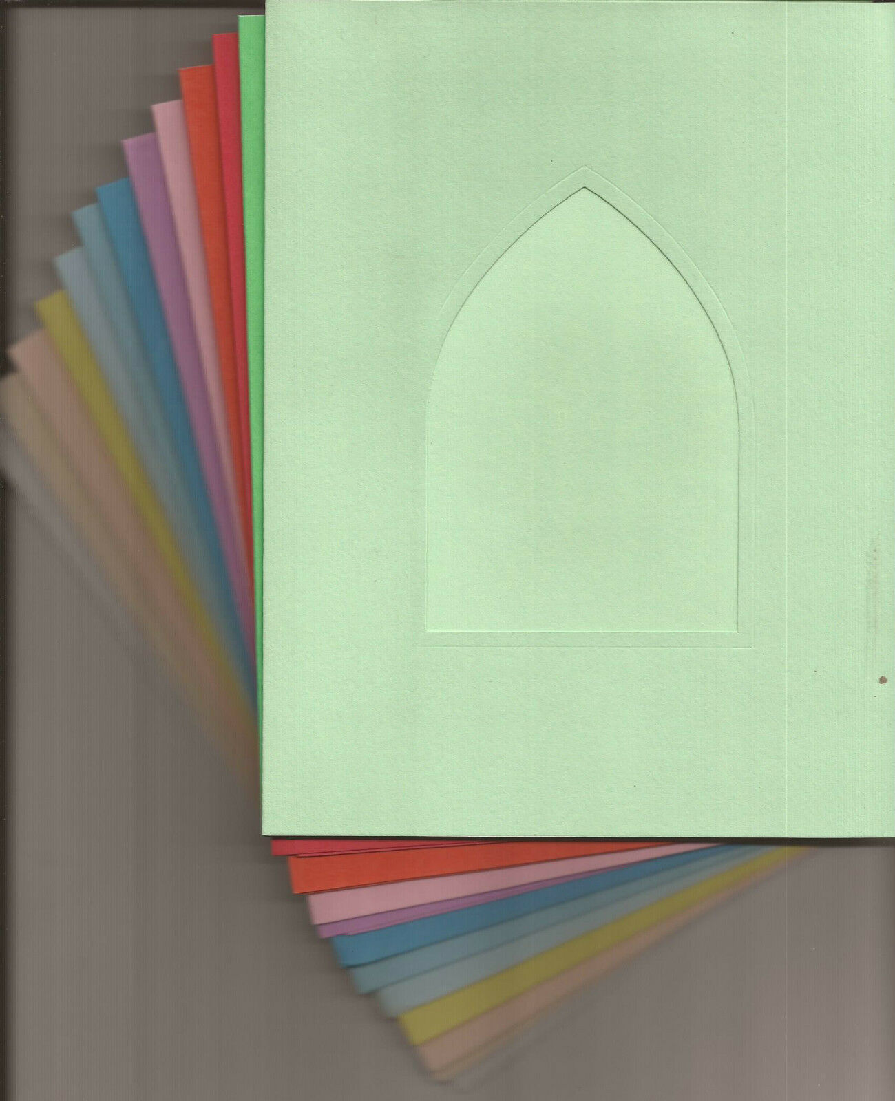 8 X 6 Church Windowaperture Card Blank Perfect For Your Diy