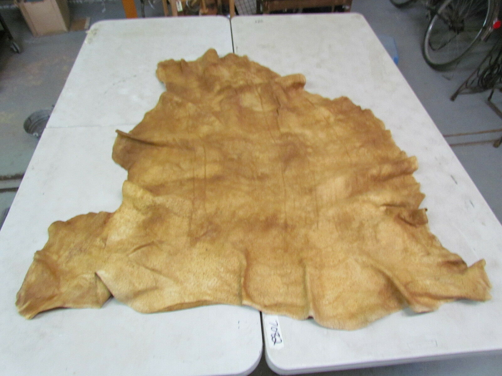 """Moose Hide Native American Dark Color Home Tanned Hide 54"""" By 53"""" Soft, Good Sew"""