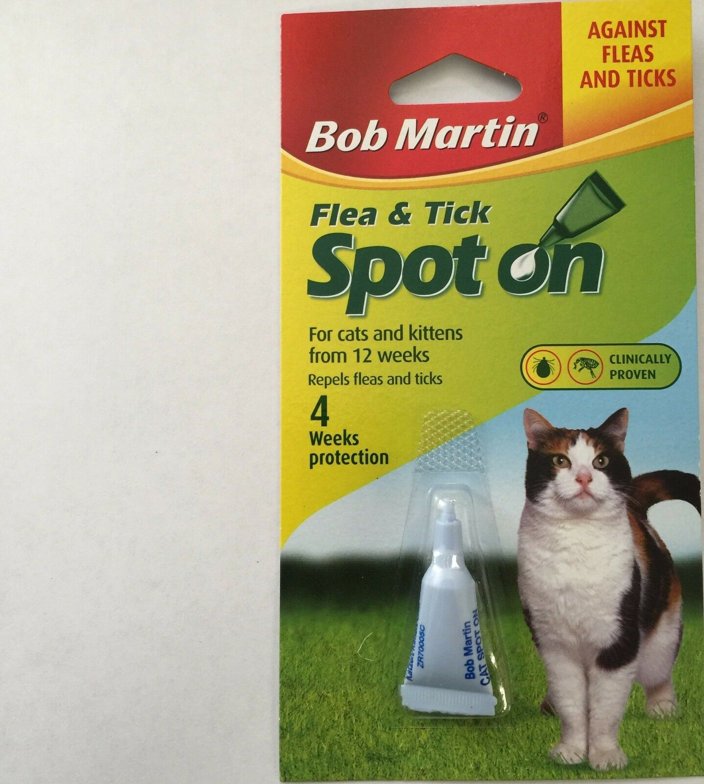 BOB MARTIN SPOT ON Flea And Tick Treatment CATS and KITTENS from 12 weeks