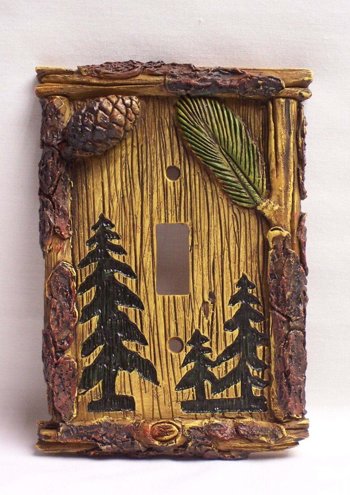 rustic light switch covers rustic wood of 1only available pine tree single light switch cover rustic home cabin decor nau