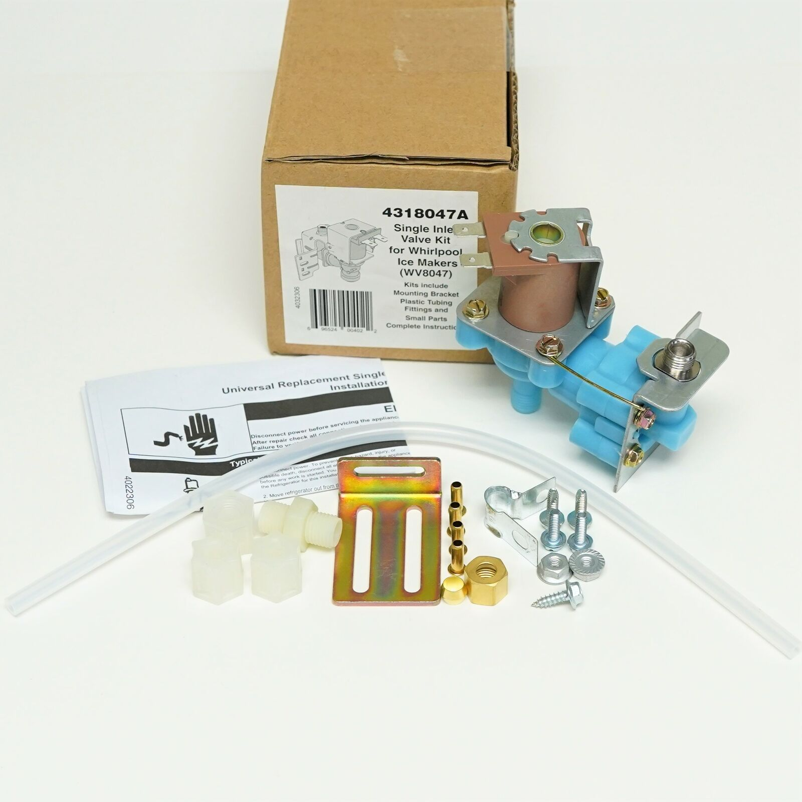 Wv8047 Refrigerator Icemaker Water Solenoid Valve For 4318047 Wiring Diagram Whirlpool 4317943 1 Of 5free Shipping
