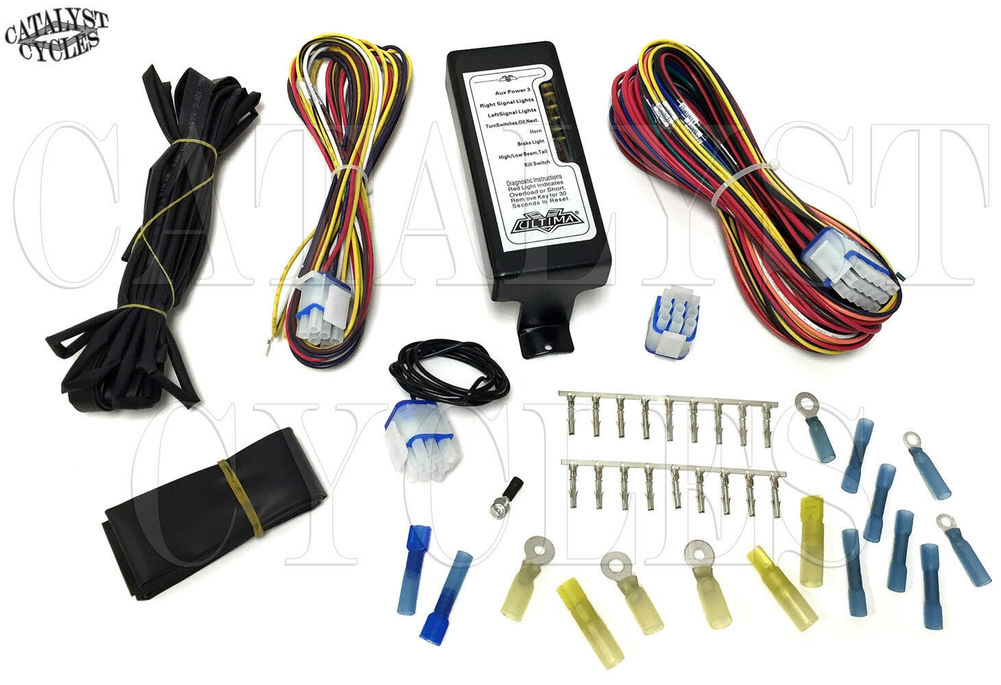 Complete Motorcycle Wiring Harness Ultima For Harley Wire Bmw K1300s Or Custom 1 Of 11only 2 Available