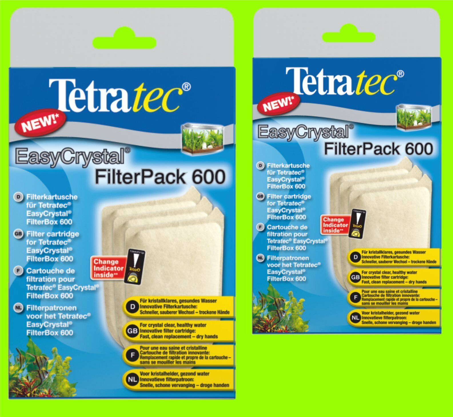 Easycrystal 600 FilterPack 2 Packs A 3 FILTRE cartouches pour TetraTec FilterBox