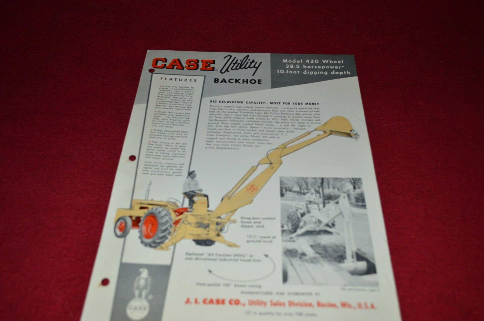 Case 430 Construction King Ck Wiring Diagram Backhoe Loader Tractor Dealers Brochure Yabe Ver Of Only Available 1600x1063