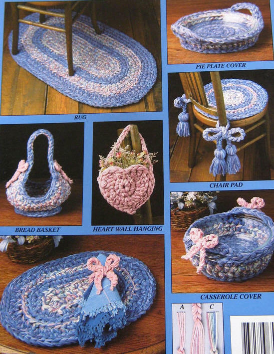Rag Rug Crochet Pattern Use Yarn Or Fabric For Rugs Placemats