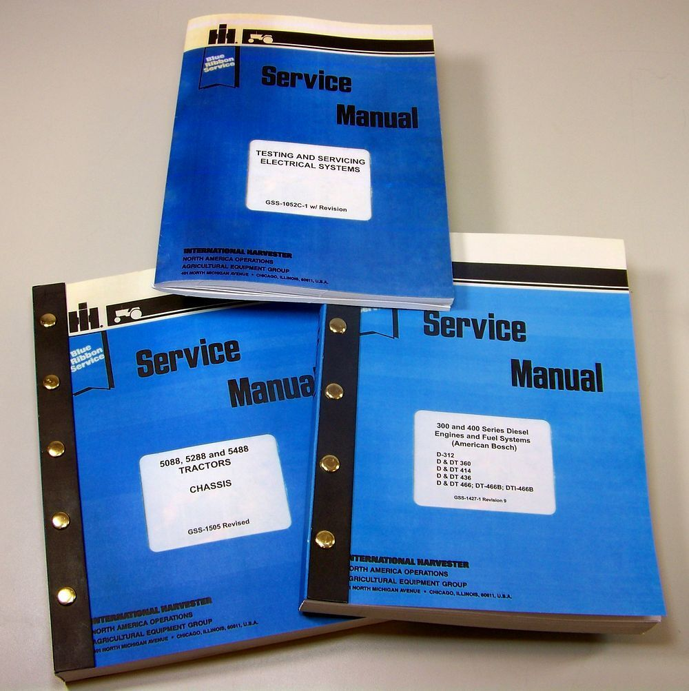 Set International 5088 5288 5488 Tractor Service Manuals Technical Repair  Shop 1 of 12FREE Shipping ...