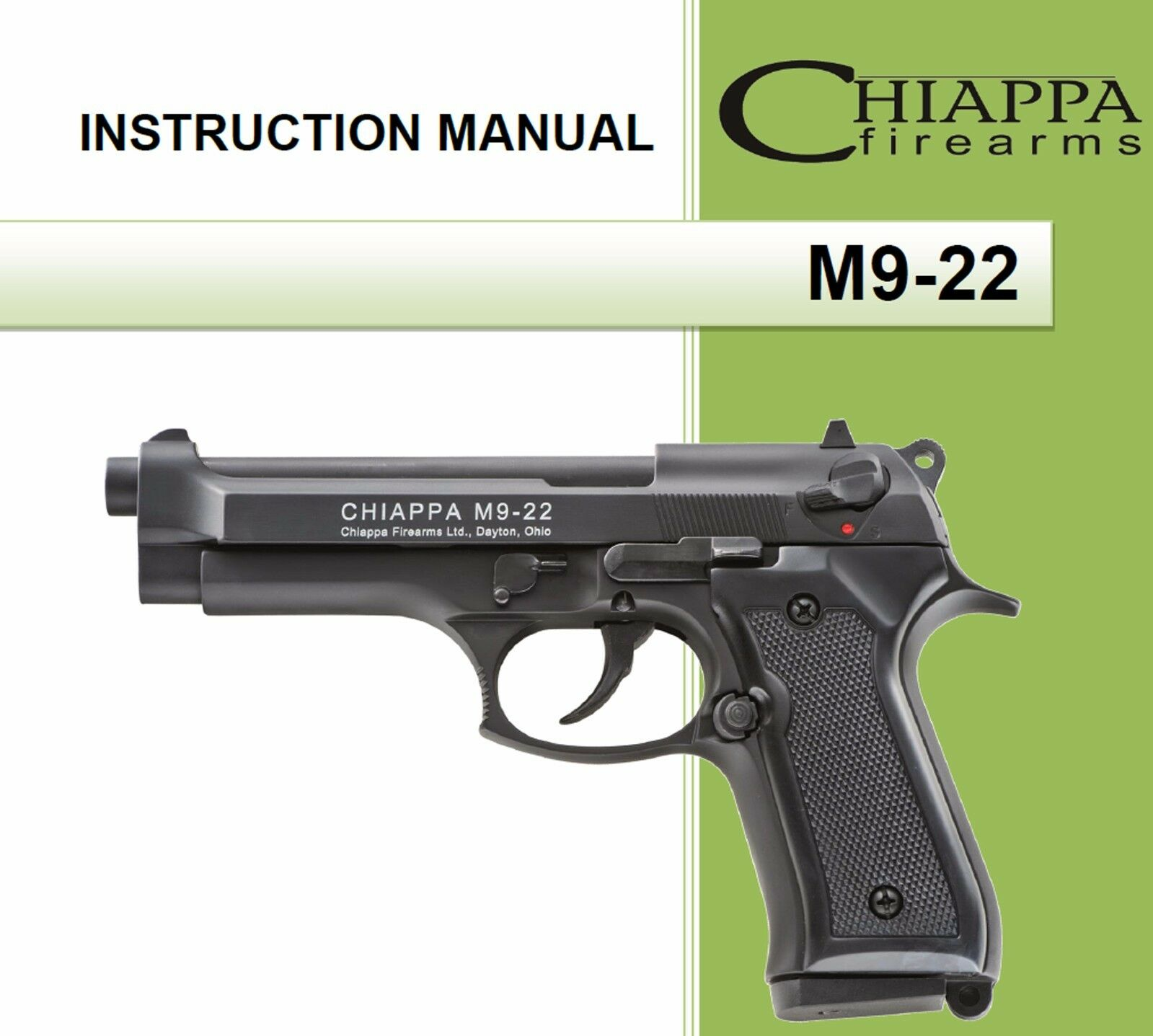 chiappa m9 22 pistol owners instruction and maintenance manual m9 22 rh picclick com Walther P99 Walther PPK