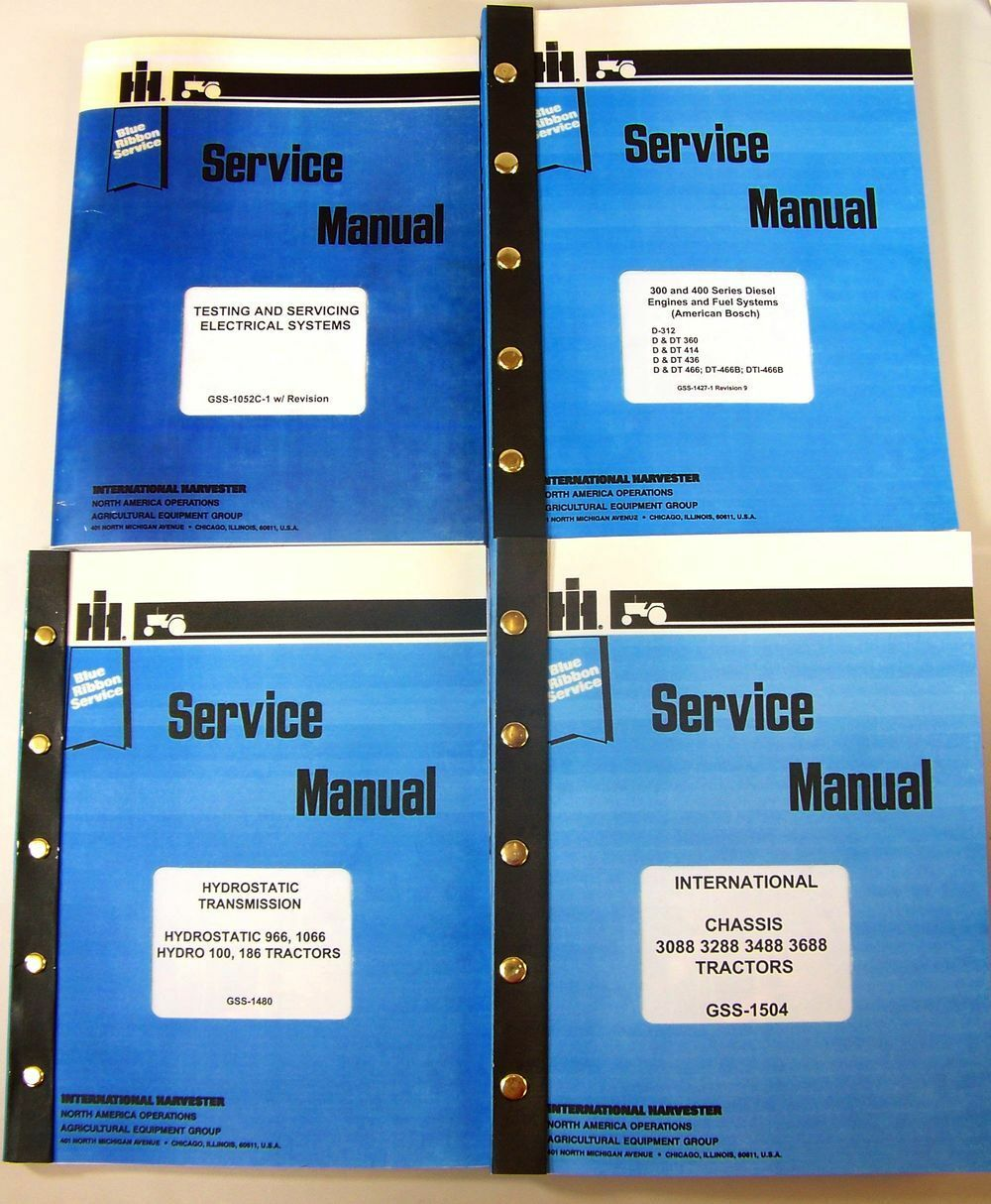 1 of 12FREE Shipping International 3488 Hydro Tractor Service Manual  Technical Repair Shop Hydrostat