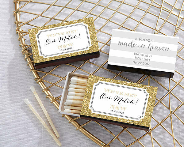 personalized match box bridal shower wedding anniversary favor multiple designs