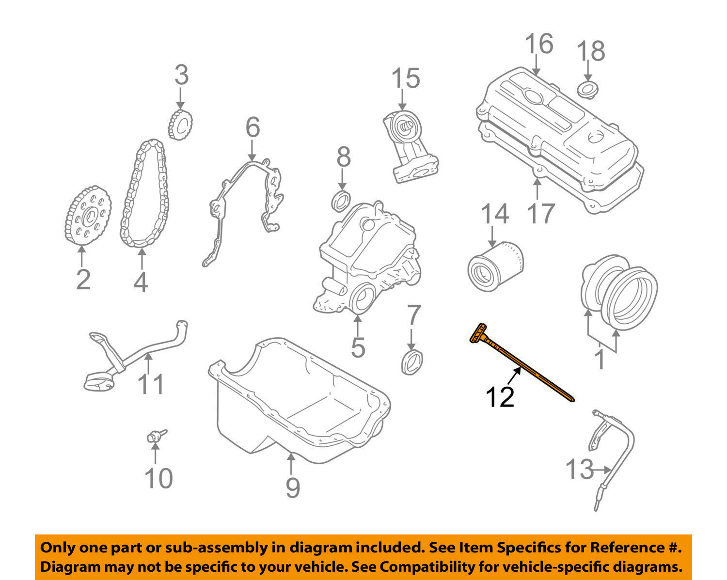 Ford Oem 99 00 Mustang 38l V6 Engine Oil Fluid Dipstick Xr3z6750aa Lincoln Ls Diagram 1 Of 2only Available