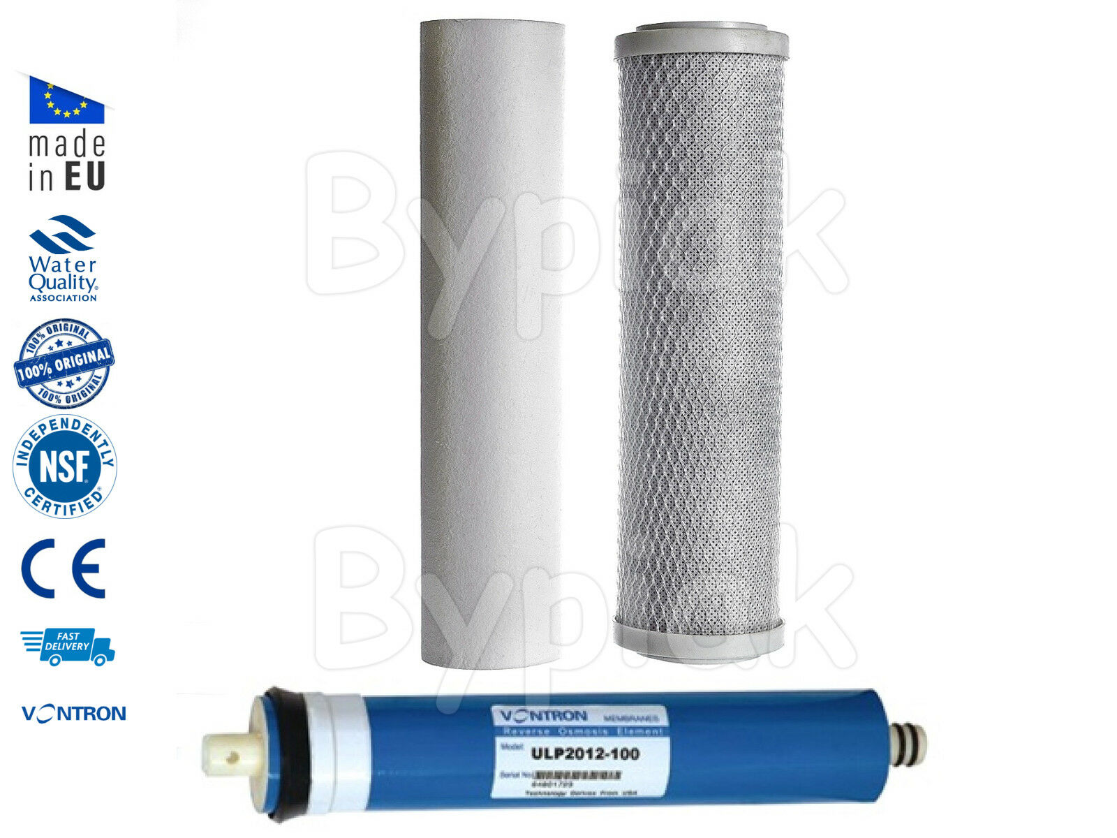 3 Stage Reverse Osmosis RO Unit Complete Filters Replacement with 50GPD Membrane