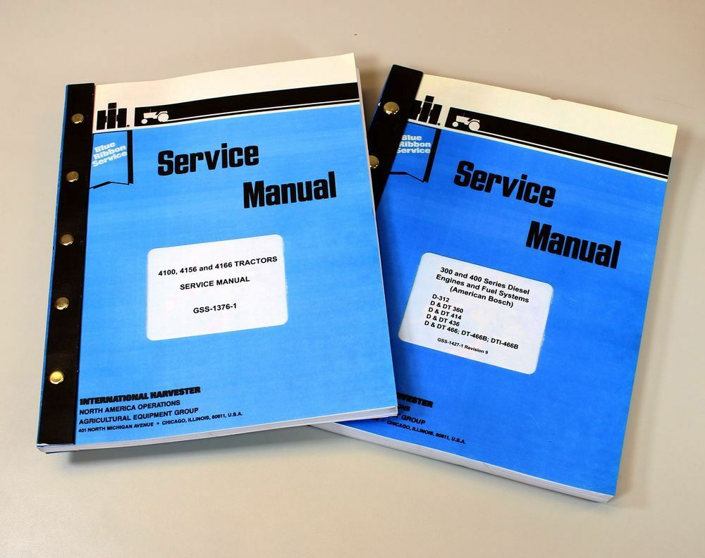 Set International 4166 Tractor Service Manuals Technical Repair Workshop  Shop 1 of 10FREE Shipping ...
