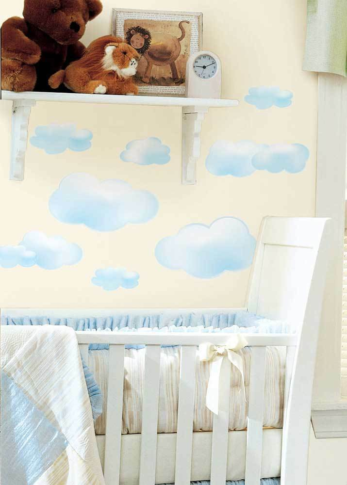 19 wandsticker wandtattoo wolken himmel babyzimmer. Black Bedroom Furniture Sets. Home Design Ideas