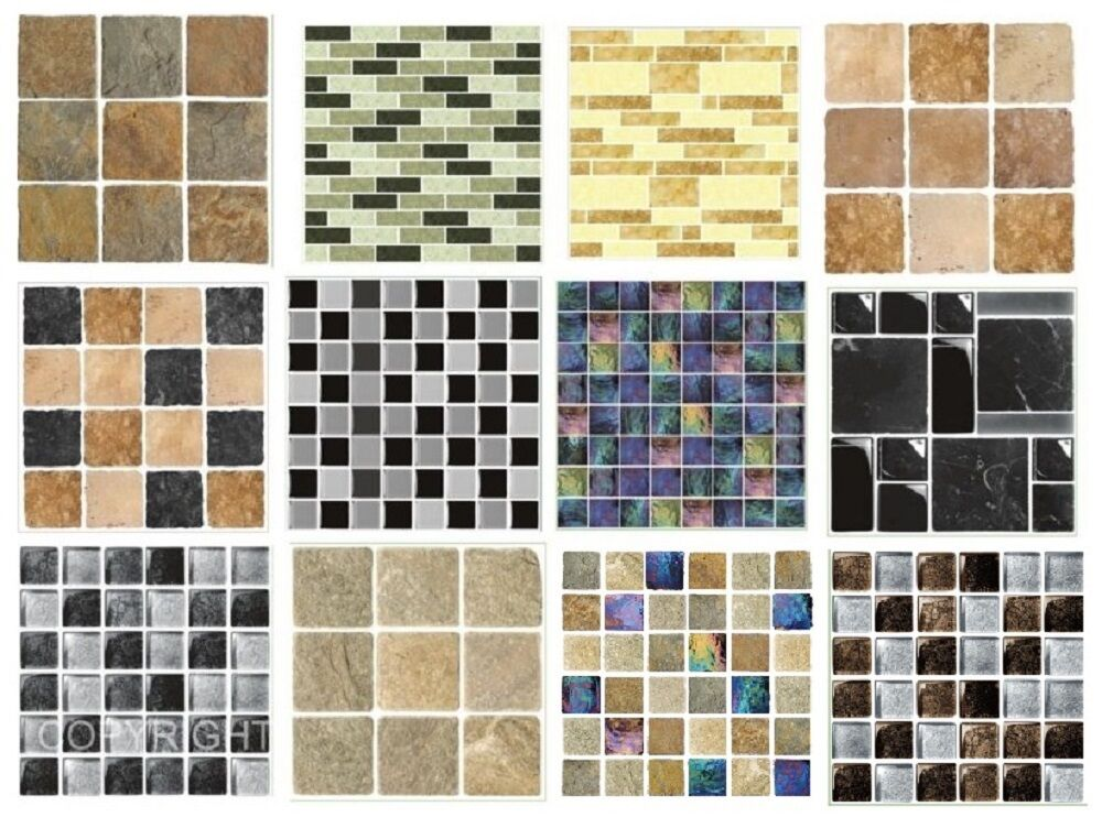 mosaic tile stickers transfers kitchen bathroom tiles