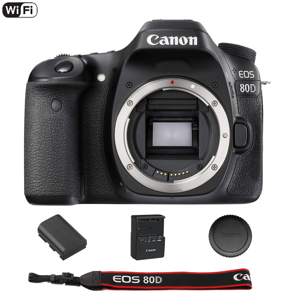Canon EOS 80D 24.2 MP Built-In WiFi DSLR Camera (Body Only) - End of Summer Sale