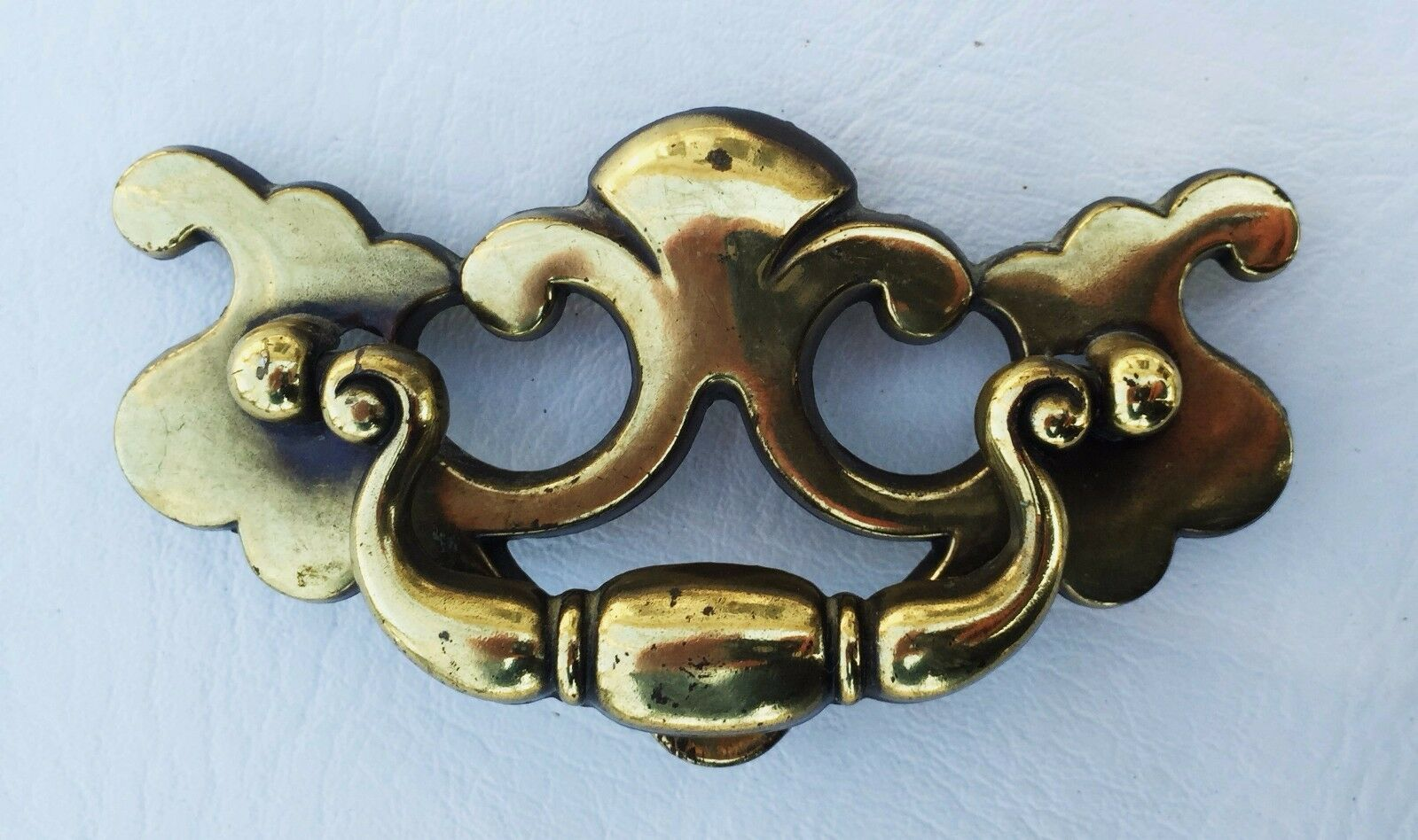 "Vintage Brass KBC Antique Hardware Chippendale drawer pull handle...3"" centers"