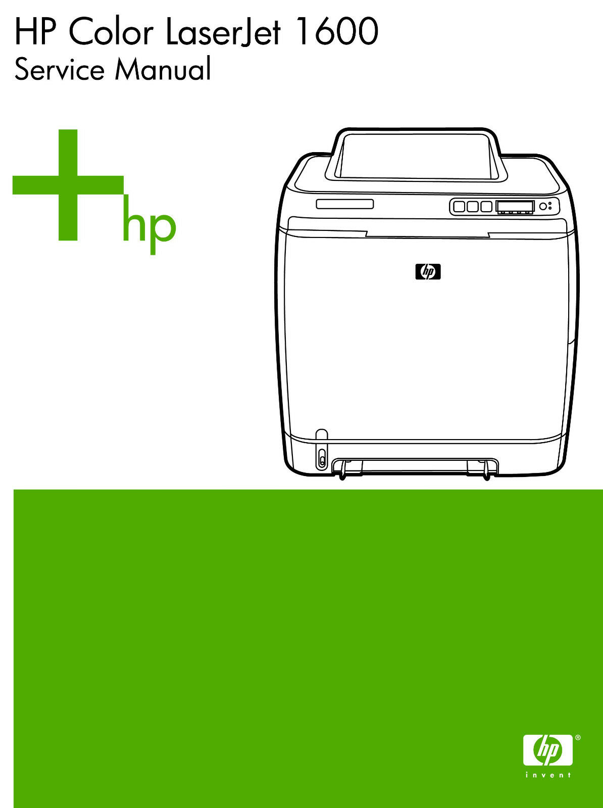 HP Color Laserjet 1600 Printer Service Manual(Parts & Diagrams) 1 of 2FREE  Shipping ...