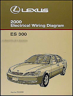 2000 Lexus ES 300 Wiring Diagram Manual Original ES300 Electrical Schematic  Book 1 of 2FREE Shipping ...