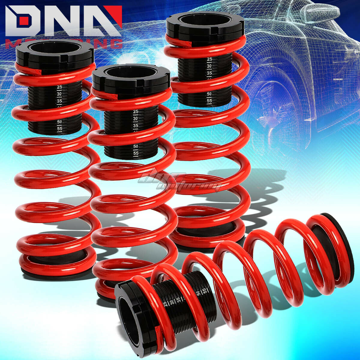 For 85 98 Vw Golf Jetta 1 3scaled Suspension Lowering Coilover Red Mk6 Gti Fuse Box Of 5free Shipping