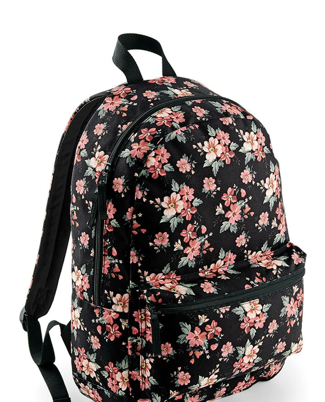 damen frauen tasche rucksack uni schule blumen flower. Black Bedroom Furniture Sets. Home Design Ideas