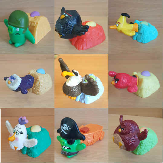 Mcdonalds happy meal toy 2016 angry birds movie character various aud picclick au - Angry birds toys ebay ...