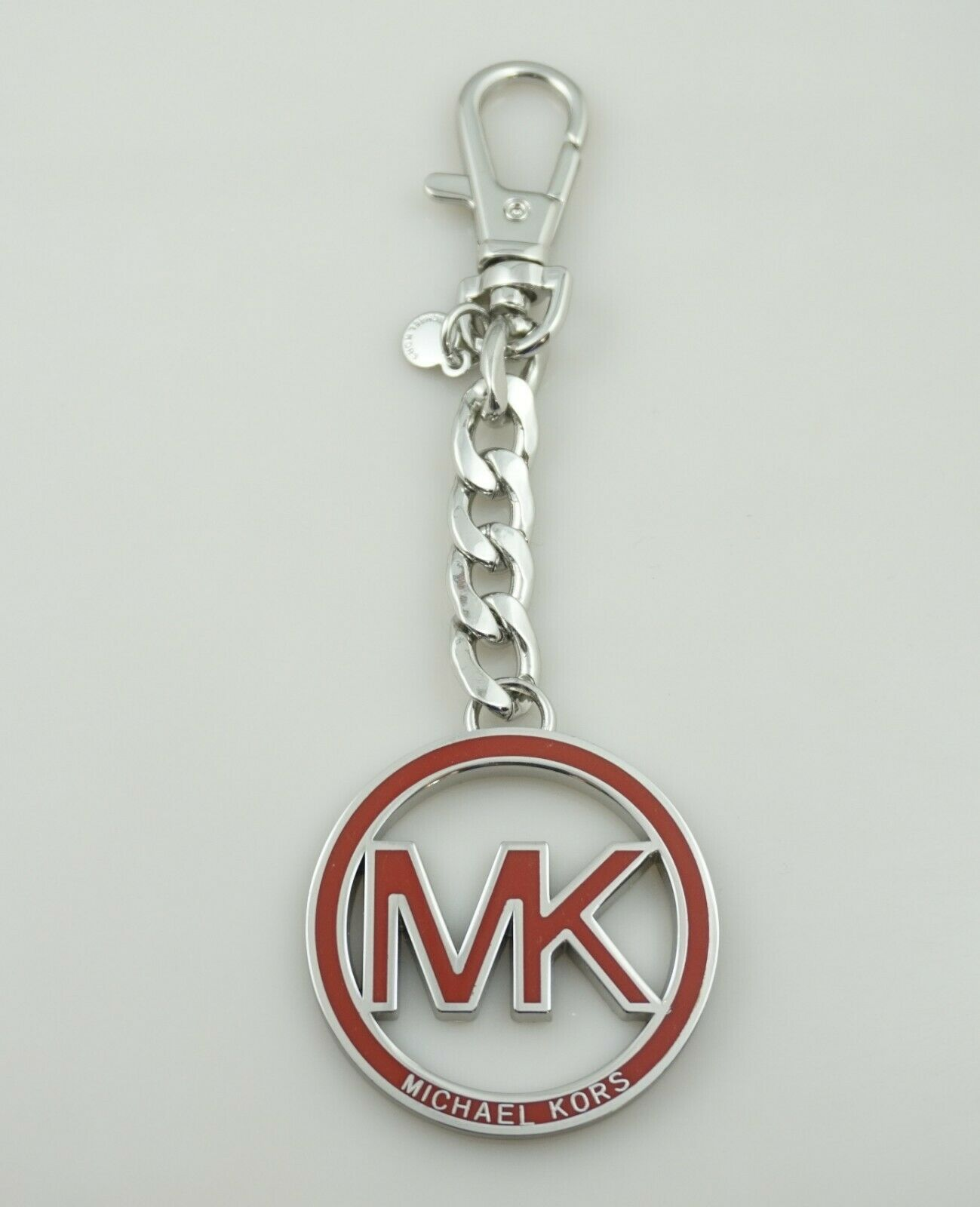 Michael Kors Mk Logo Key Fob Hang Tag Purse Charm Chain Shining Authentic 1 Of 1only 2 Available