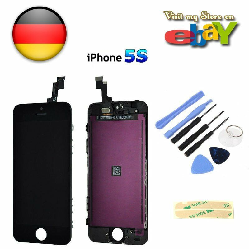 neu retina display f r apple iphone 5s schwarz glas touch. Black Bedroom Furniture Sets. Home Design Ideas